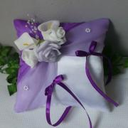 coussin alliance romantique violet parme