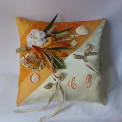 coussin alliance exotique orange