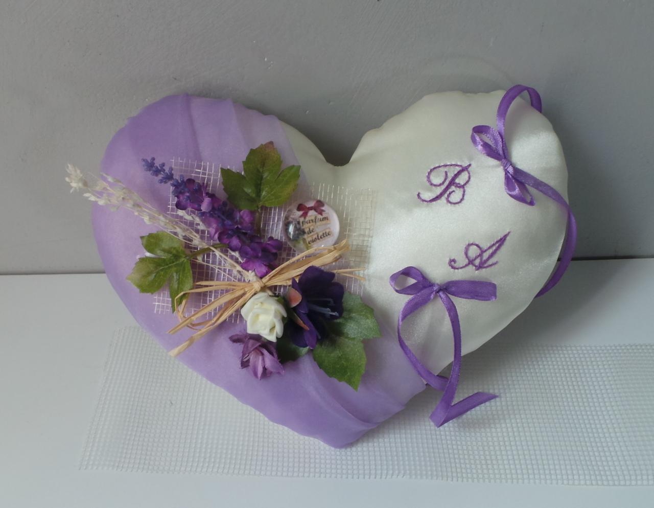 coussin alliance parme violet prune provence