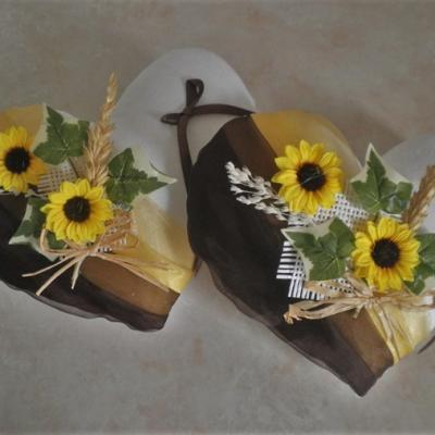 coussin alliance chocolat jaune tournesol