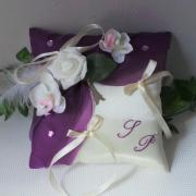 Coussin alliance violet prune Paris