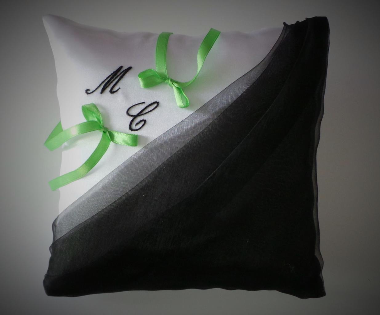 coussin alliances personnalisé noir vert(23)