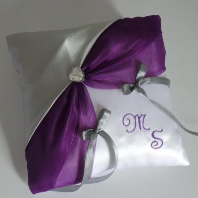coussin alliances violet argent (31)