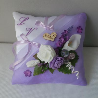 Coussin d'alliances parme Provence