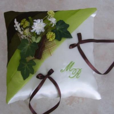 coussin alliances nature, anis marron chocolat