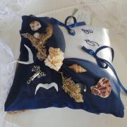 Coussin alliances la mer bleu marine roi 3