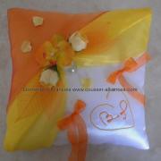 Coussin mariage jaune orange