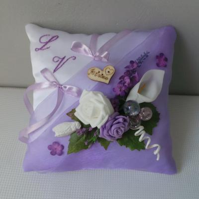 Coussin mariage parme
