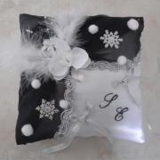 Coussin mariage theme hiver