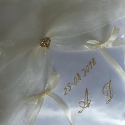 Date du mariage brodee main