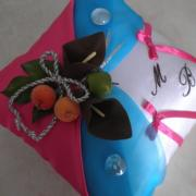 Gourmandise chocolat turqoise fuchsia