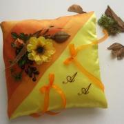 L automne jaune orange brode 007