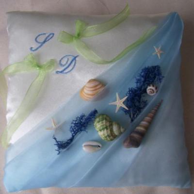 La mer drape organza bleuciel satin sable bro