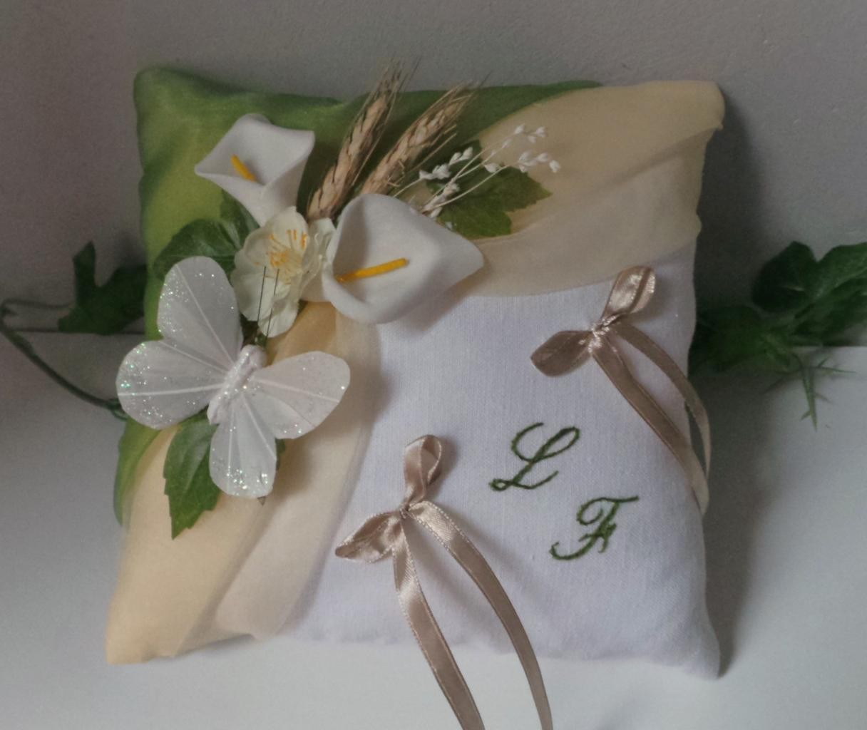 Coussin alliance champetre vert nature personnalise