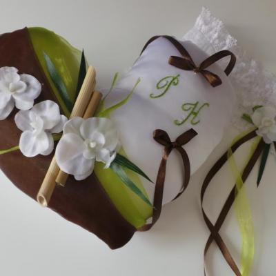 coussin alliance zen chocolat anis