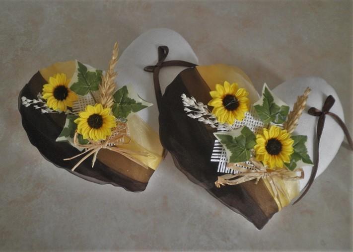 Coussin alliances chocolat jaune champêtre