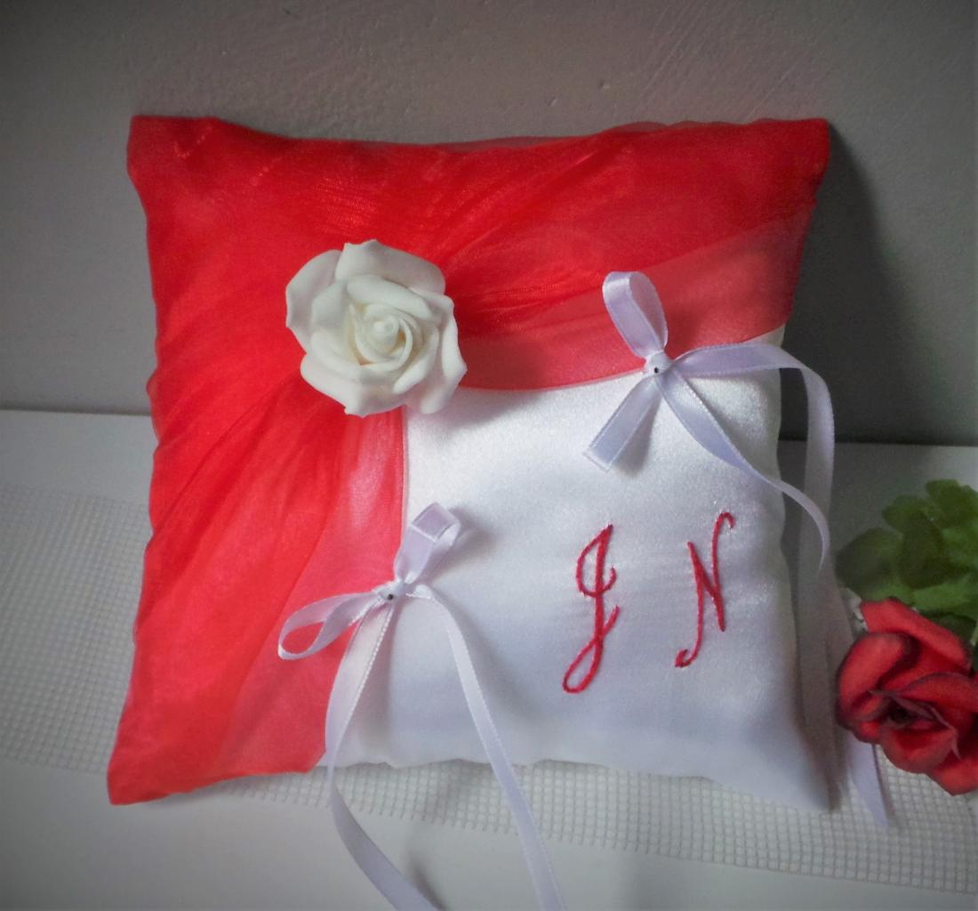 coussin alliances rouge blanc (112)