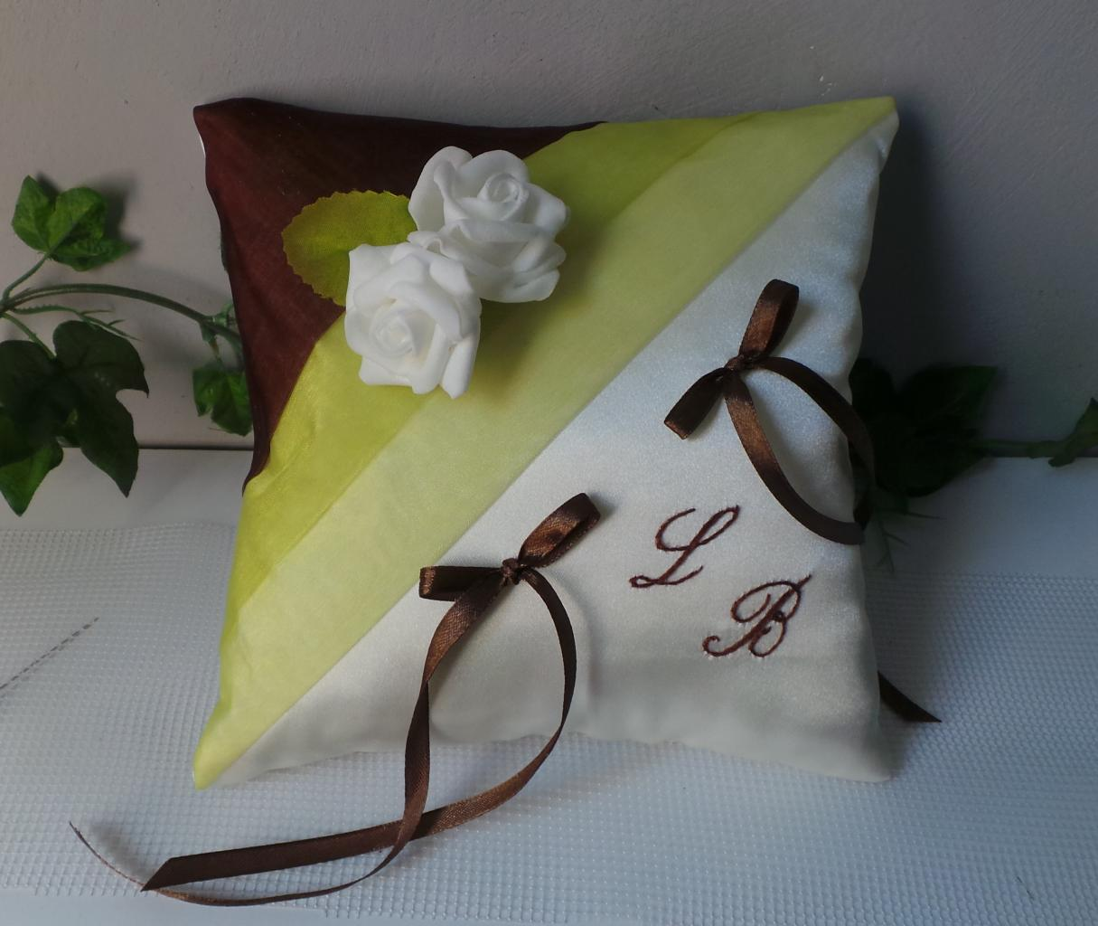 coussin alliances vert anis marron chocolat (7)