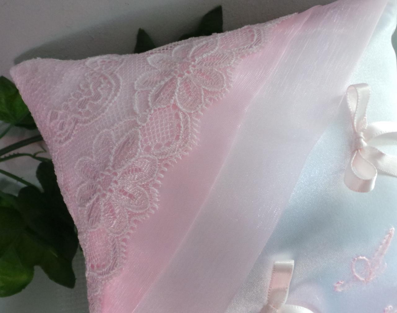 coussin mariage dentelle  rose pale(18)