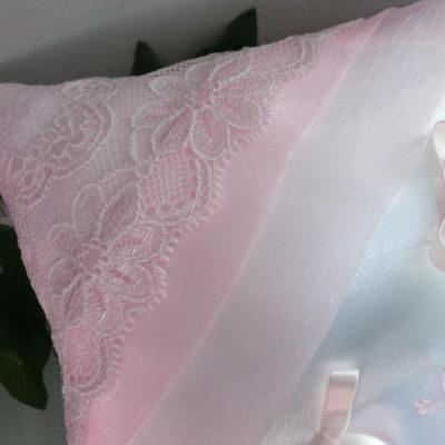 coussin mariage dentelle  rose pale(18)