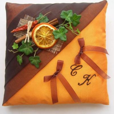 """coussin alliances """"épices"""", chocolat orange, piment, cannelle"""