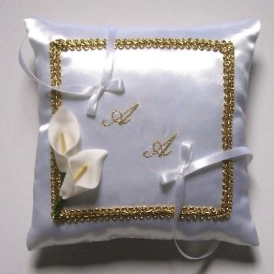 Coussin alliance dore 2