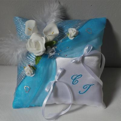 Coussin alliance mariage 33