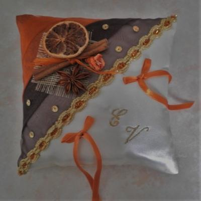 Coussin alliance mariage 712