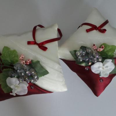 Coussin alliance mariage 74 1