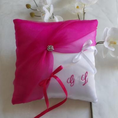 Coussin alliance personnalise rose fuchsia fushia fuchia fuschia 1
