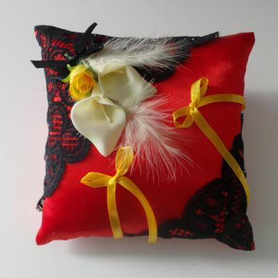 Coussin alliance rouge personnalise