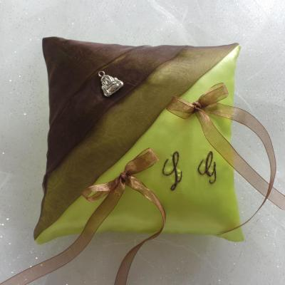 Coussin alliances zen chocolat anis