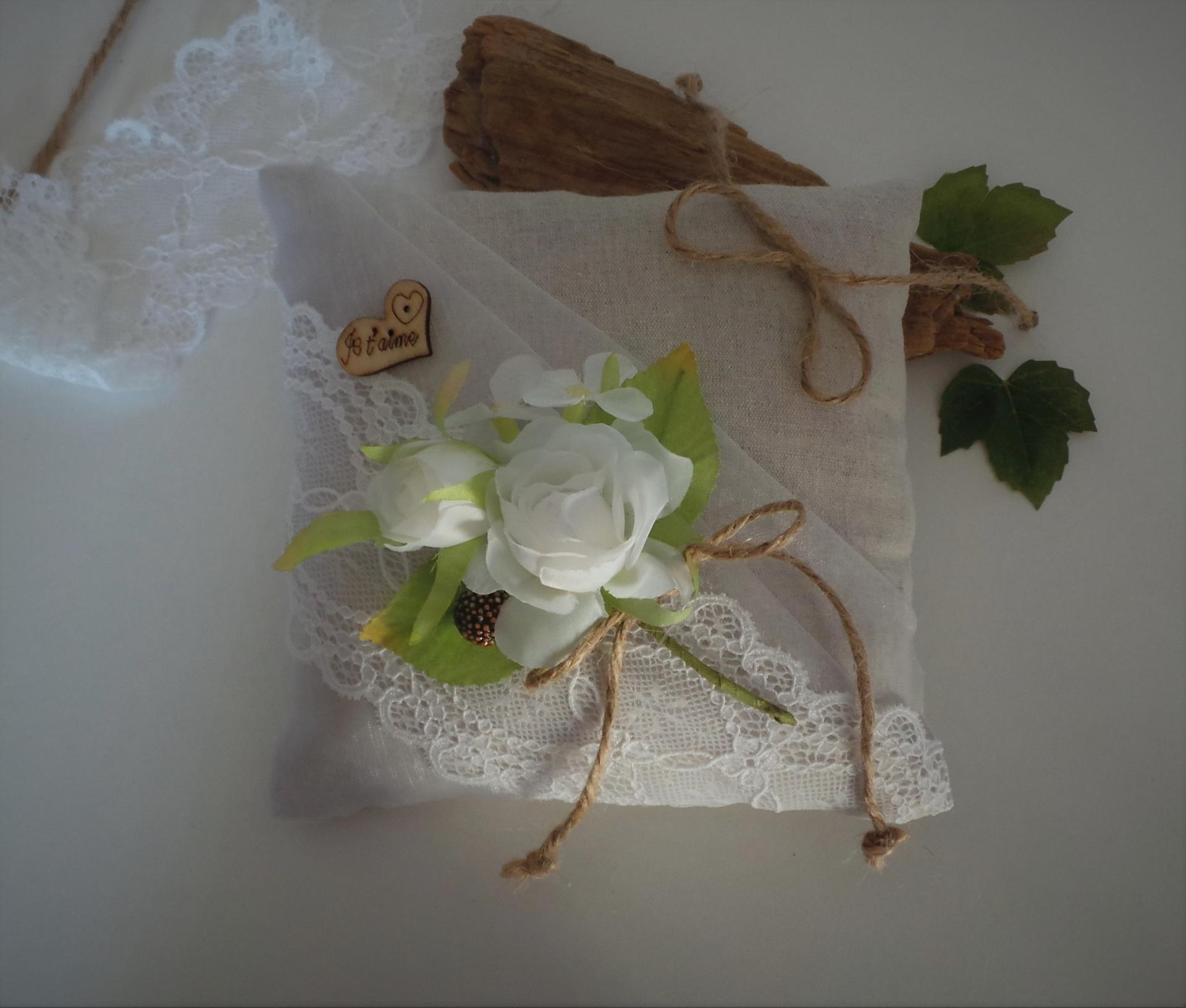 Coussin mariage boheme boho champetre chic 2 1