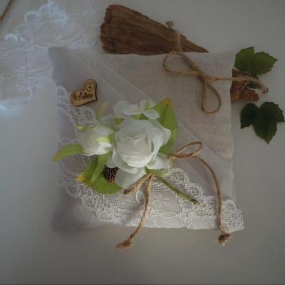 Coussin mariage boheme boho champetre chic 2