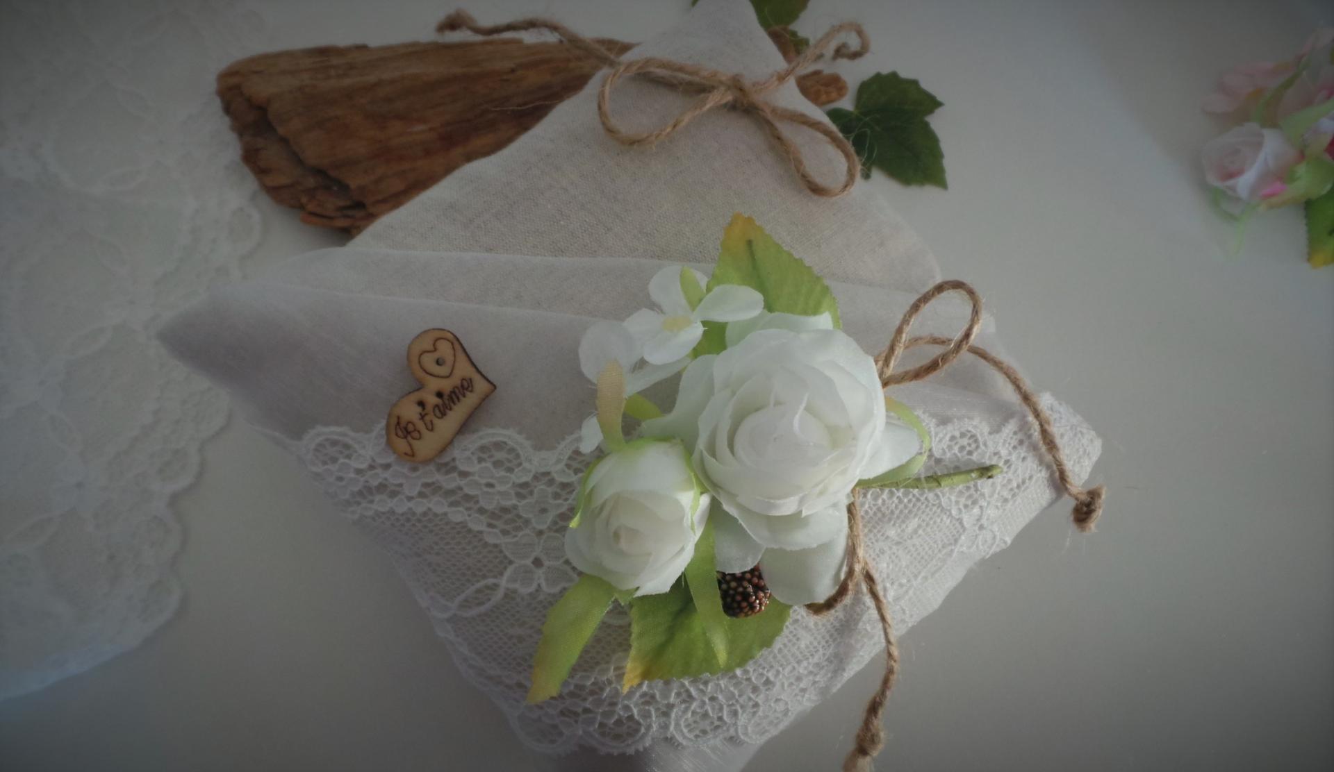 Coussin mariage boheme boho champetre chic 3