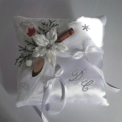 Coussin mariage hiver canada