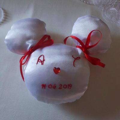 Coussin mariage mickey