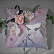 Coussin mariage rose 10