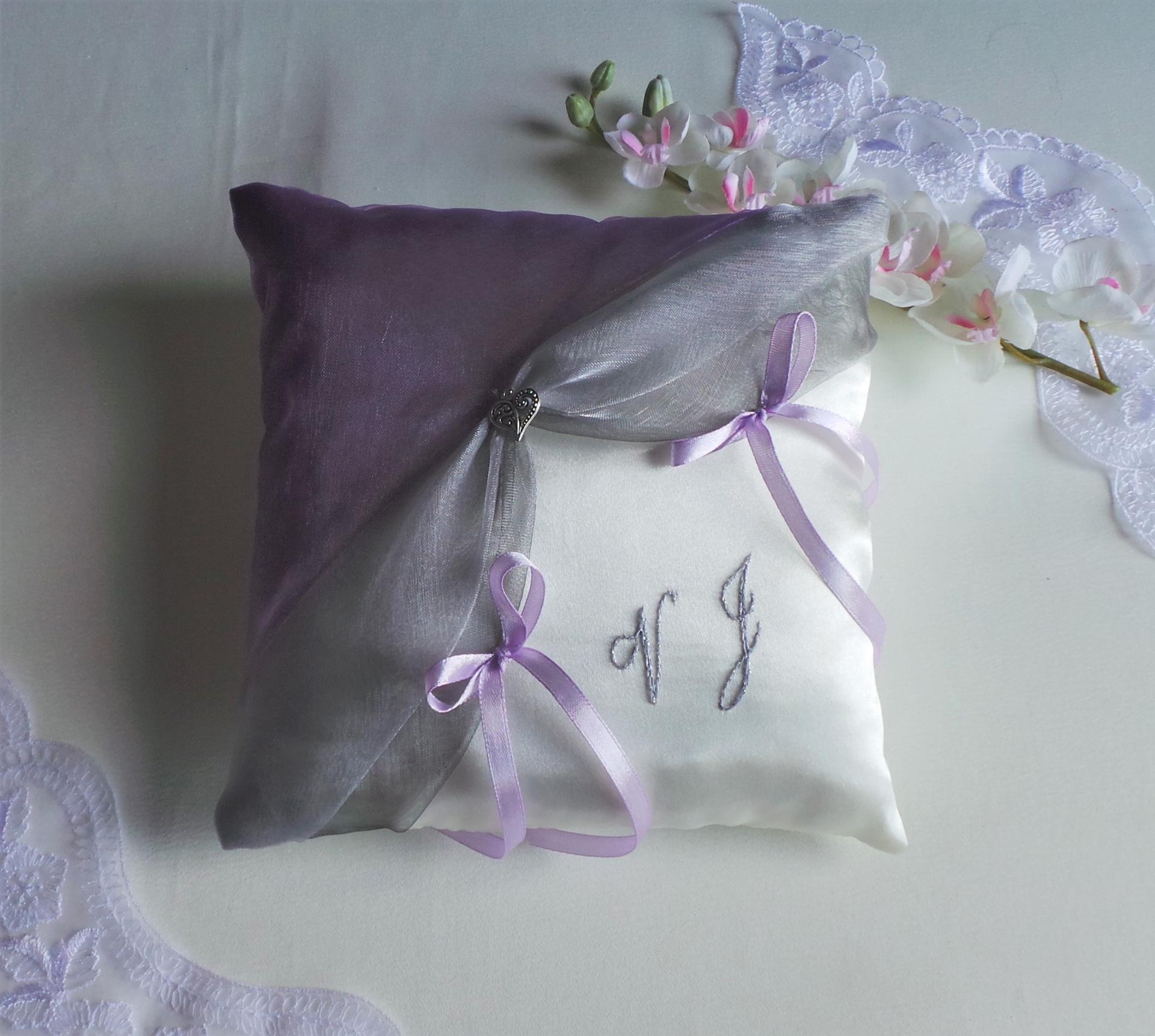 Decoration mariage violet parme gris