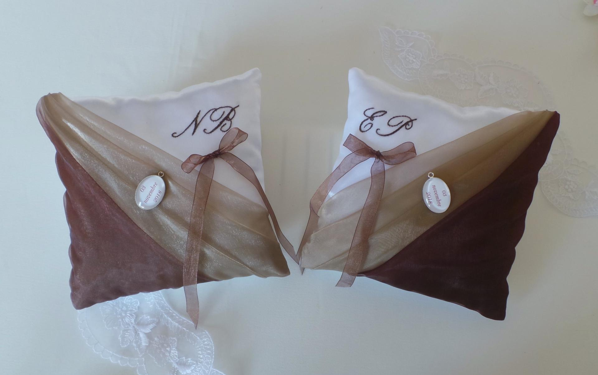 Duo coussin mariage personnalise